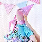Куклы и игрушки ручной работы. Ярмарка Мастеров - ручная работа Вивьен зайка текстильная празднично - подарочная. Handmade.