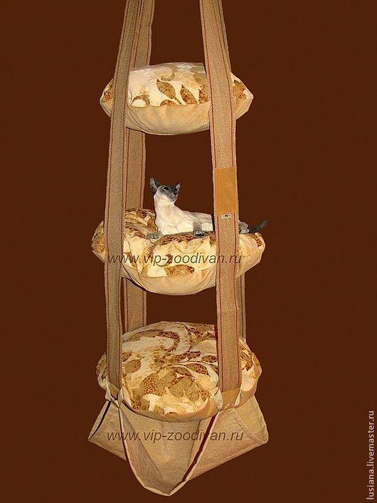 Аксессуары для кошек, ручной работы. Ярмарка Мастеров - ручная работа. Купить Подвесная лежанка для котят и активных кошек. Handmade.