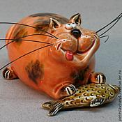 Музыкальные инструменты ручной работы. Ярмарка Мастеров - ручная работа кот окарина. Handmade.