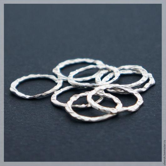 Для украшений ручной работы. Ярмарка Мастеров - ручная работа. Купить Соединитель коннектор  кольцо серебряное 925 пробы. Handmade.