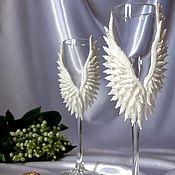 """Свадебный салон ручной работы. Ярмарка Мастеров - ручная работа Свадебные бокалы """"Мой ангел"""". Handmade."""