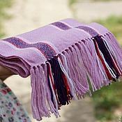 Аксессуары ручной работы. Ярмарка Мастеров - ручная работа Детский домотканый шарф lilac. Handmade.