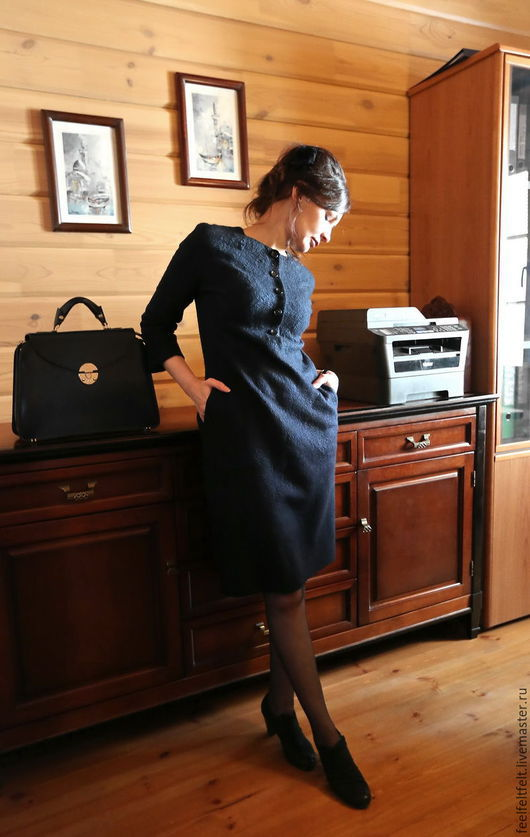 """Платья ручной работы. Ярмарка Мастеров - ручная работа. Купить Платье авторское """"Sangre azul"""". Handmade. Тёмно-синий, комфортное"""