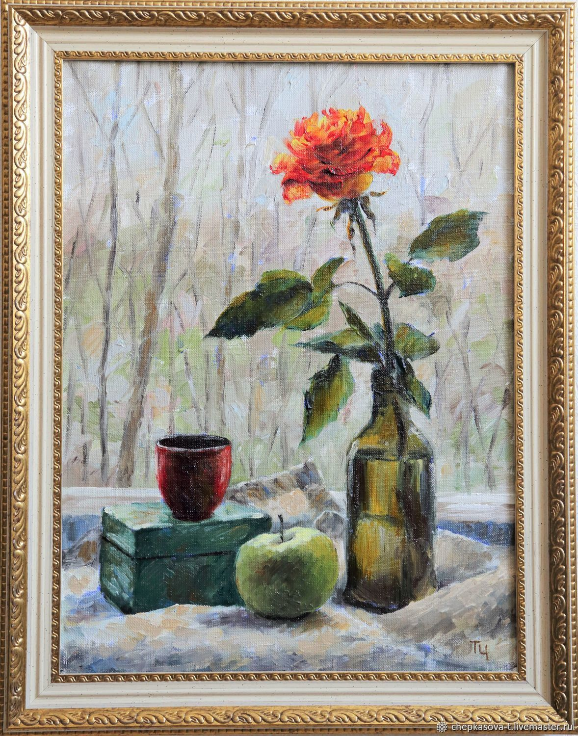 Rose Zen. Oil on canvas. 2017, Pictures, Moscow,  Фото №1