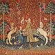 Знаменитый французская шпалера 16 века ` Дама с Единорогом`. Находится в Париже в музее Клюни.