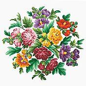 Схемы для вышивки ручной работы. Ярмарка Мастеров - ручная работа Схемы для вышивки: Цветочная композиция. Handmade.