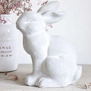 Для дома и интерьера ручной работы. Ярмарка Мастеров - ручная работа Статуэтка Заяц из бетона Прованс садовый кролик. Handmade.