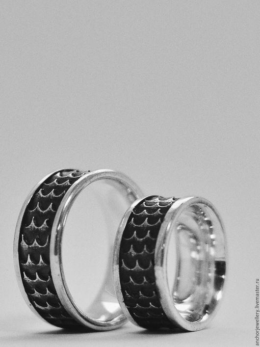 Кольца ручной работы. Ярмарка Мастеров - ручная работа. Купить Кольцо. Handmade. Серебряный, морская тематика, подарок мужчине