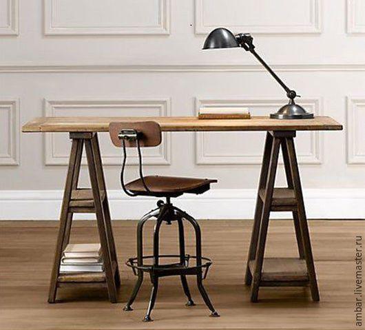 Мебель ручной работы. Ярмарка Мастеров - ручная работа. Купить Стол на козлах. Handmade. Комбинированный, лофт, необычная мебель