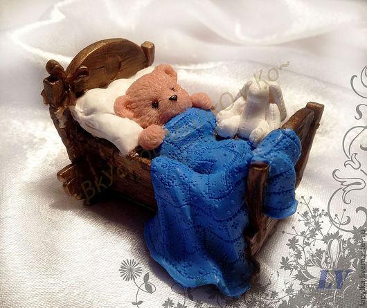 """Мыло ручной работы. Ярмарка Мастеров - ручная работа. Купить Мыло для рук """"Тедди в кроватке"""". Handmade. Тедди в кроватке, teddy"""