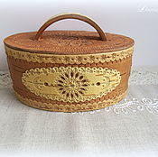 "Подарки к праздникам handmade. Livemaster - original item Birch bark basket (tues, tuesok) from Russia ""Birch bark fable"". Handmade."