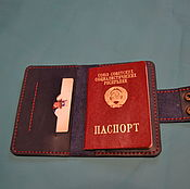 Канцелярские товары handmade. Livemaster - original item Passport cover leather. Handmade.