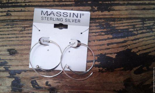 Винтажные украшения. Ярмарка Мастеров - ручная работа. Купить Серьги кольца серебряные. Handmade. Серебряный, минималистичные серьги, подарок женщине