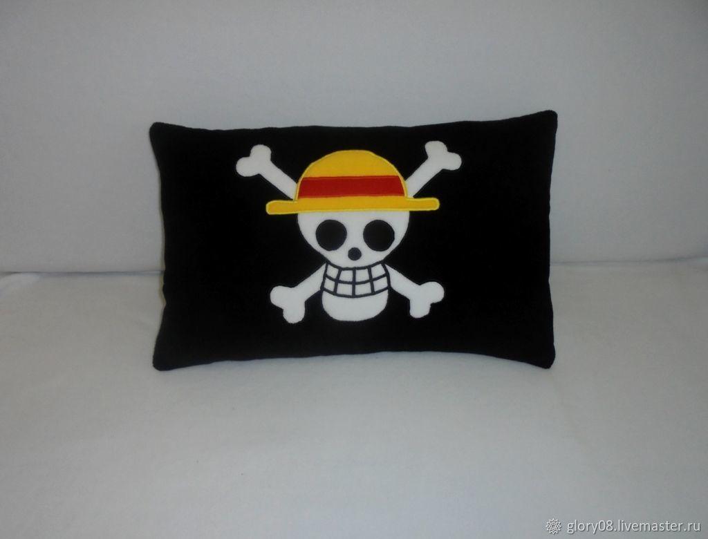 Подушка One Piece Luffy Flag, Сувениры, Москва,  Фото №1