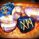 """Обереги, талисманы, амулеты ручной работы. Ярмарка Мастеров - ручная работа. Купить """"Drommeren - Синеокая мечта"""", набор камней-талисманов с рунами. Handmade."""