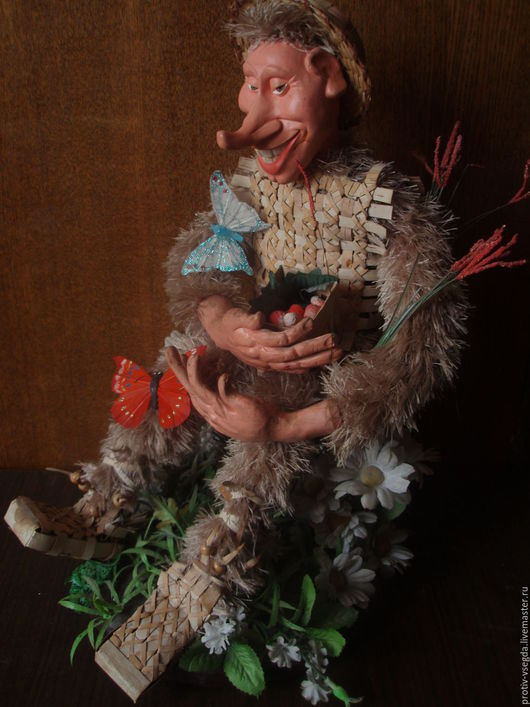 Коллекционные куклы ручной работы. Ярмарка Мастеров - ручная работа. Купить Леший. Handmade. Ярко-зелёный, полимерная глина