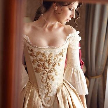 Одежда ручной работы. Ярмарка Мастеров - ручная работа Средневековое платье невесты Реконструкция. Handmade.