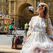 Платья ручной работы. Ярмарка Мастеров - ручная работа Белое Платье в стиле бохо, Флоренция. Handmade.