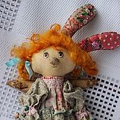 Куклы и игрушки ручной работы. Ярмарка Мастеров - ручная работа Зайка Стешенька( ангелочек). Handmade.
