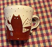 Посуда ручной работы. Ярмарка Мастеров - ручная работа Чашка с кошками. Handmade.