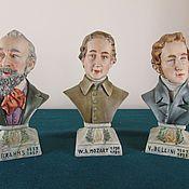 Винтаж ручной работы. Ярмарка Мастеров - ручная работа Каподимонте статуэтки бюсты великих людей. Handmade.