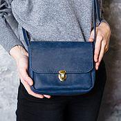 Сумки и аксессуары handmade. Livemaster - original item Blue purse portfolio with snap closure genuine leather. Handmade.