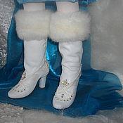 Куклы и игрушки ручной работы. Ярмарка Мастеров - ручная работа Обувь для кукол.Сапожки для Снегурочки.. Handmade.