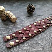 Украшения ручной работы. Ярмарка Мастеров - ручная работа Кожаный браслет Charger. Handmade.