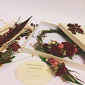 """Свадебный салон ручной работы. Ярмарка Мастеров - ручная работа Венок и гребень из сухоцветов """"Бохо шик"""". Handmade."""