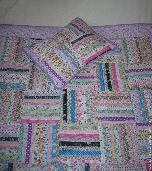 """Пледы и одеяла ручной работы. Ярмарка Мастеров - ручная работа. Купить Детское лоскутное одеяло """"Лето"""" и подушка, пэчворк,. Handmade."""