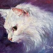 Картины и панно handmade. Livemaster - original item Custom cat portrait oil painting on canvas. Handmade.