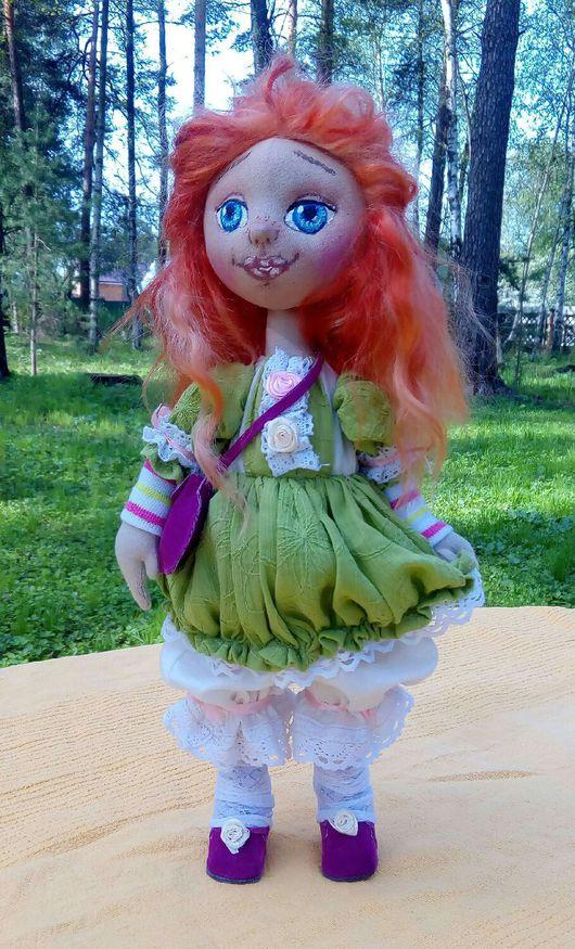 Куклы тыквоголовки ручной работы. Ярмарка Мастеров - ручная работа. Купить Веснушка- авторская текстильная кукла. Handmade. Интерьерная кукла