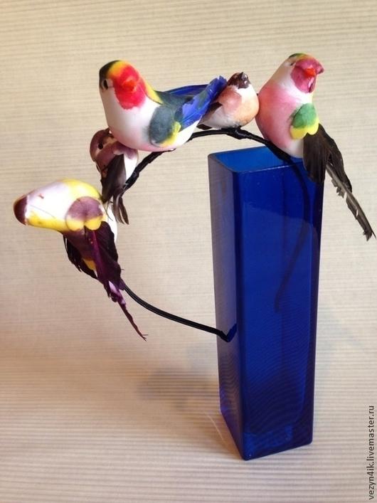 Заколки ручной работы. Ярмарка Мастеров - ручная работа. Купить Ободок с птичками №1. Handmade. Ободок, птицы, паса