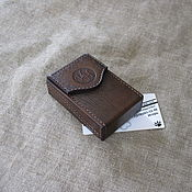 Сувениры и подарки handmade. Livemaster - original item Cigarette case or case for a pack of cigarettes with initials.. Handmade.