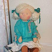Куклы и игрушки ручной работы. Ярмарка Мастеров - ручная работа Малышка в голубом. Handmade.