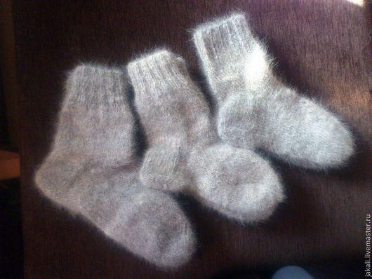 Носки, Чулки ручной работы. Ярмарка Мастеров - ручная работа. Купить Носки из собачьей шерсти. Handmade. Серый, носки из пуха