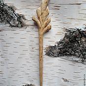 Украшения ручной работы. Ярмарка Мастеров - ручная работа шпилька для волос лист пальмы. Handmade.