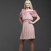 Одежда ручной работы. Ярмарка Мастеров - ручная работа Платье с розовыми цветочками. Скидка 30%. Handmade.