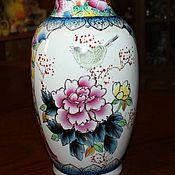 Винтаж handmade. Livemaster - original item Gorgeous mantel vase hand painted old China, 1970s. Handmade.