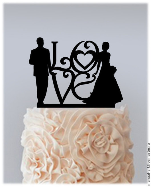 Свадебные аксессуары ручной работы. Ярмарка Мастеров - ручная работа. Купить Топпер для свадебного торта. Handmade. Черный, фигурка на торт