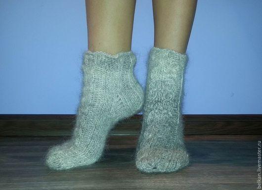 Тапочки носочки из собачьей шерсти южнорусской овчарки.