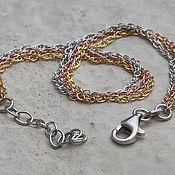 Украшения handmade. Livemaster - original item Gold-plated chain