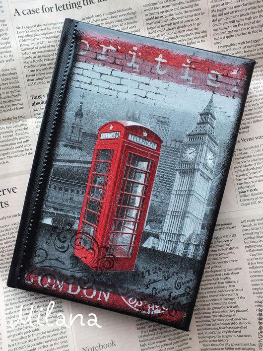 ежедневник, ежедневник декупаж, ежедневник Англия,  ежедневник красная телефонная будка, серый ежедневник, ежедневник в подарок, подарок любителю Англии, стильный ежедневник, купить ежедневник
