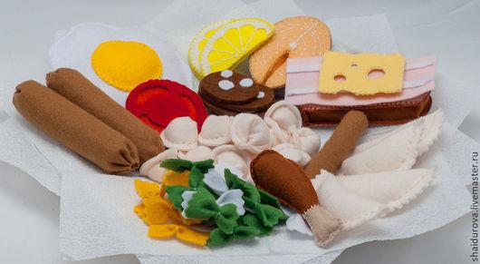 Еда ручной работы. Ярмарка Мастеров - ручная работа. Купить Еда из фетра. Игровой набор.. Handmade. Разноцветный, рыбный стейк