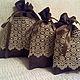 Кружево- как украшение для льняных мешочков дополняет стиль . Упакуйте подарочки в эти мешочки- и будет секрет ...