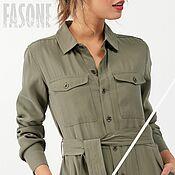 Одежда handmade. Livemaster - original item dresses: Khaki Shirt Dress Premium fabric. Handmade.