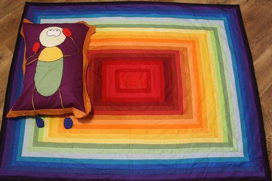 Пледы и одеяла ручной работы. Ярмарка Мастеров - ручная работа. Купить Детское покрывало / одеяло + наволочка «ЯрКо» № 218. Handmade.
