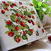"""Для дома и интерьера handmade. Livemaster - original item Коробочка для чая с объемным рисунком! """"Вкус лета!"""". Handmade."""