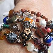 Украшения handmade. Livemaster - original item 06 GEMINI charm Bracelet 5 revs of real leat stones of the Zodiac Sign. Handmade.