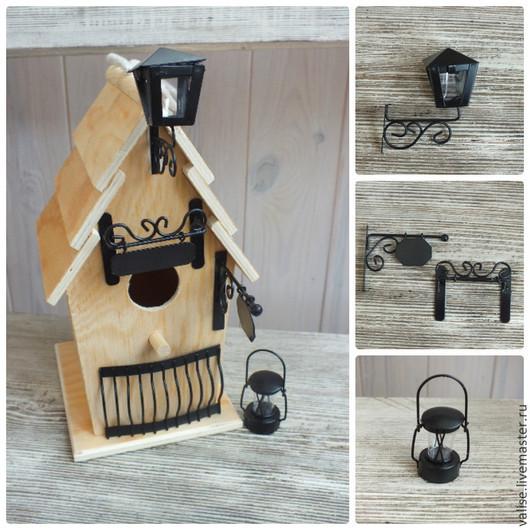 Другие виды рукоделия ручной работы. Ярмарка Мастеров - ручная работа. Купить Миниатюра (вывеска, фонарь, балконная решетка, керосиновая лампа). Handmade.